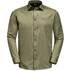 Jack Wolfskin Lakeside Roll-Up T-shirt à manches longues Homme, khaki